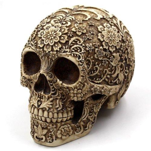 резной череп